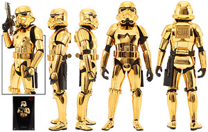 Stormtrooper (Gold Chrome Version) - Hot Toys - Sixth Scale Figures