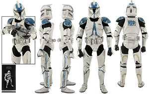 Clone Trooper Deluxe (501st) - Sideshow Collectibles - Sixth Scale Figures