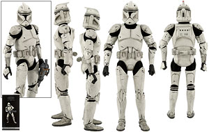 Clone Trooper Deluxe (Veteran) - Sideshow Collectibles - Sixth Scale Figures
