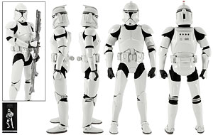 Clone Trooper Deluxe (Shiny) - Sideshow Collectibles - Sixth Scale Figures