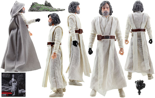 Luke Skywalker (Jedi Master) (Ahch-To Island) - The Black Series - 6-Inch Figures