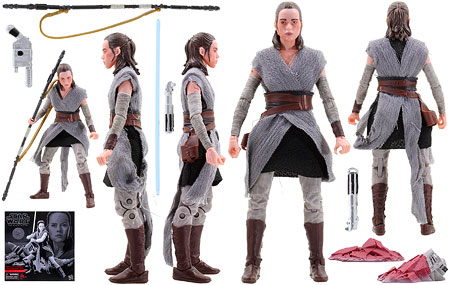 Rey (Jedi Training) (Crait) - The Black Series - 6-Inch Figures