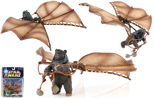 Ewok with Attack Glider (Assault on Endor) - Star Wars [Saga - Phase III] - Ultra Figures