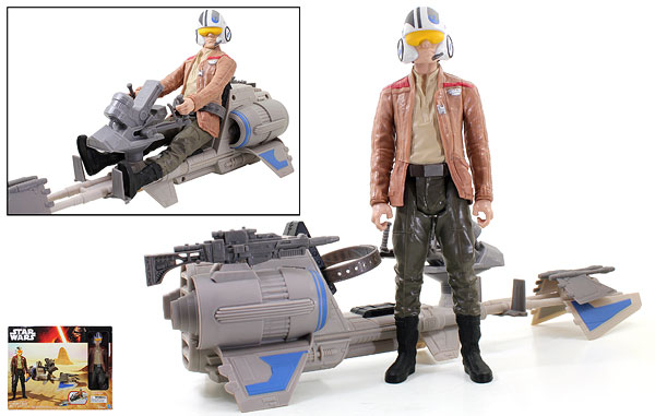 Speeder Bike/Poe Dameron - The Force Awakens - 12-Inch Figures