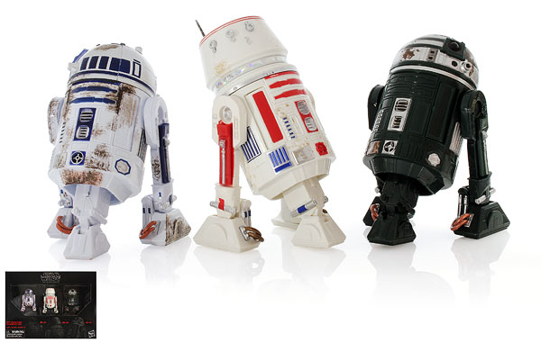 Red Squadron (R2-D2/R5-D8/R2-X2) - The Black Series - Exclusives