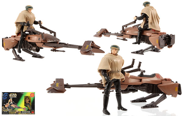 Speeder Bike (With Luke Skywalker In Endor Gear) - POTF2 [Green/Freeze Frame] - Vehicles