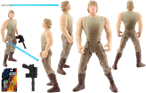Luke Skywalker (In Dagobah Fatigues) - POTF2 [Red] - Basic Figures