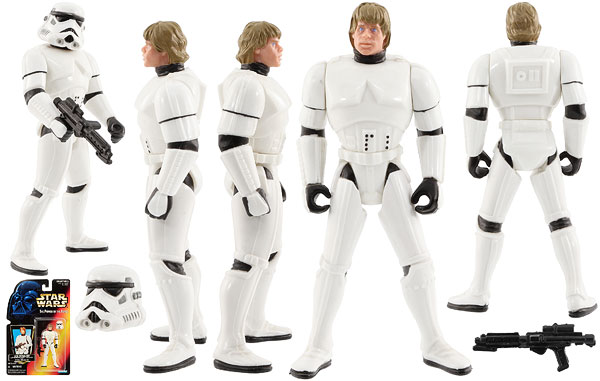 Luke Skywalker (In Stormtrooper Disguise) - POTF2 [Red] - Basic Figures