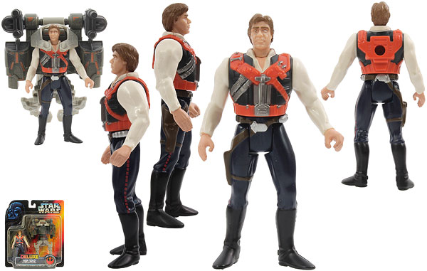 Han Solo With Smuggler Flight Pack - POTF2 [Red] - Deluxe Figures