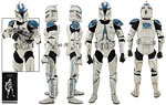 Clone Trooper Deluxe (501st) - Sideshow Collectibles - 1:6 Scale Figures (2014)