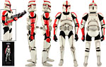 Republic Clone Captain (Phase I Armor) - Sideshow Collectibles - 1:6 Scale Figures (2012)