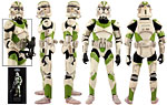 442nd Siege Battalion Clone Trooper - Sideshow Collectibles - 1:6 Scale Figures (2012)