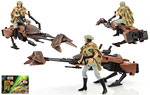 Speeder Bike (With Princess Leia Organa In Endor Gear) - Hasbro - The Power of the Force [Green/Freeze Frame] (1997)