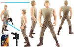 Luke Skywalker (In Dagobah Fatigues) - Hasbro - The Power of the Force [Red] (1996)