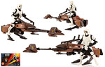 Imperial Speeder Bike [with Biker Scout Stormtrooper] - Hasbro - The Power of the Force [Red] (1995)