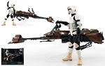 Speeder Bike with Biker Scout - Hasbro - The Black Series [Phase II] (2014)