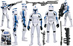 Clone Trooper (501st Legion) (Walmart) - Hasbro - The Clone Wars [blue] (2008)