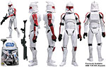 Clone Trooper (Senate Security) (SDCC 2008) / SWS.com) - Hasbro - The Clone Wars [blue] (2008)