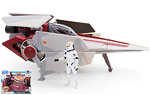 V-wing Fighter & V-wing Pilot (Toys R Us) - Hasbro - The Clone Wars [blue] (2008)