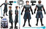 Anakin Skywalker (No. 1) - Hasbro - The Clone Wars [blue] (2008)