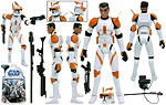 Clone Commander Cody (No. 10) - Hasbro - The Clone Wars [blue] (2008)