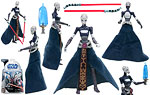 Asajj Ventress (No. 15) - Hasbro - The Clone Wars [blue] (2008)