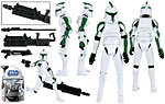 Clone Trooper (41st Elite Corps) (No. 26) - Hasbro - The Clone Wars [blue] (2009)