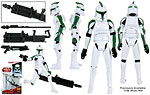 Clone Trooper (41st Elite Corps) (CW04) - Hasbro - The Clone Wars [red] (2009)